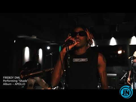 Fireboy DML - shade Live performer